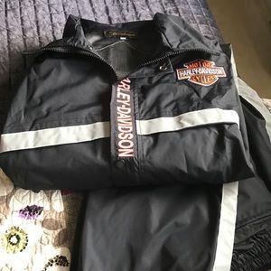 Harley Davidson female rain gear.
